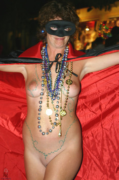 Big titted mature women topless at party
