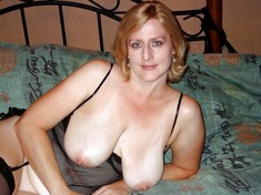 Plump women in stockings exposes their..