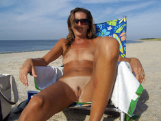Mature nudists show naked saggy bodies..