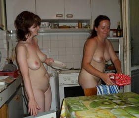 Mother nude at home