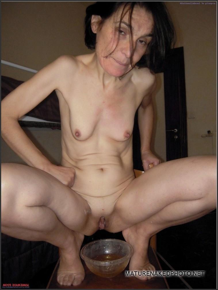 Skinny granny naked